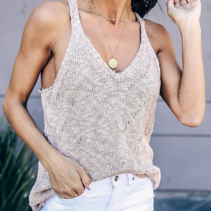 Fashion Women Knitted Vest Tops