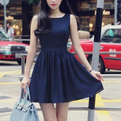 Sweet Bow Vest Dress