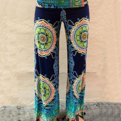 Fashion printing stitching trousers..