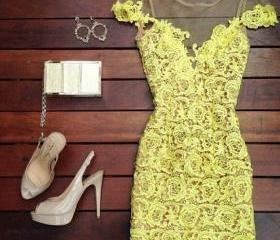 Slim Sweet Lace Dress