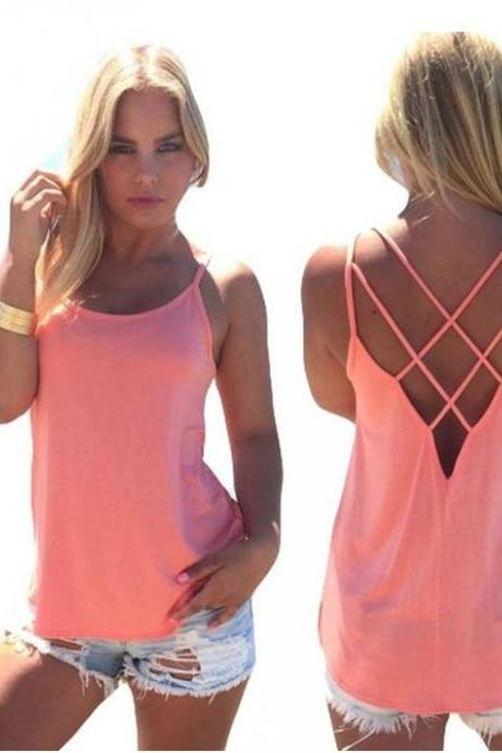Womens Summer Tank Top Halter Vest