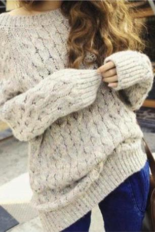RETRO LOOSE LONG-SLEEVED SWEATERS 10211
