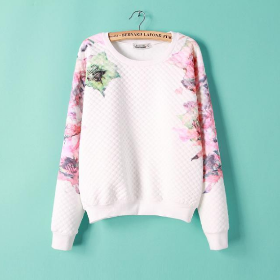 Fashion round neck long-sleeved sweater VCF51413AU