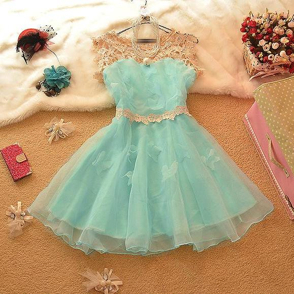 Stitching Organza Bowknot Ruili Princess Dress